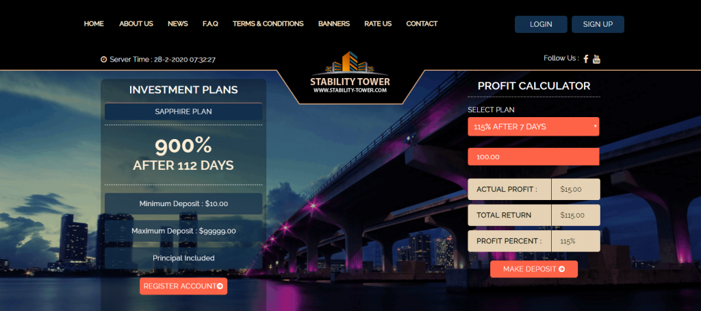 StabilityTower Homepage image