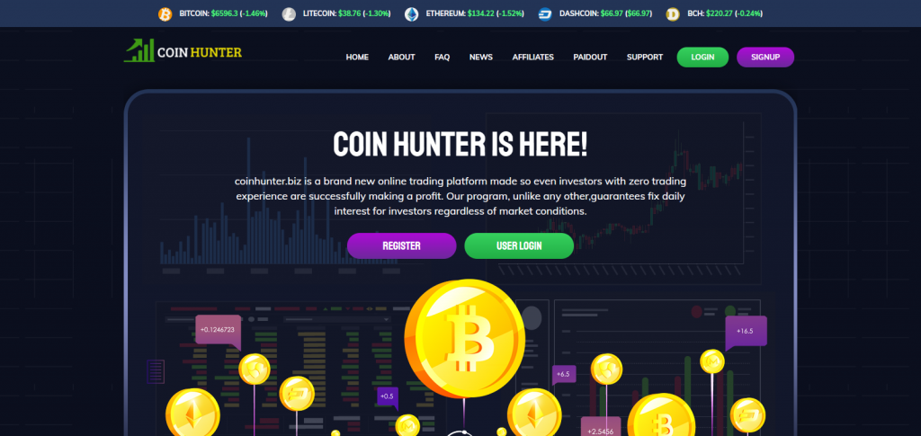 CoinHunter homepage image